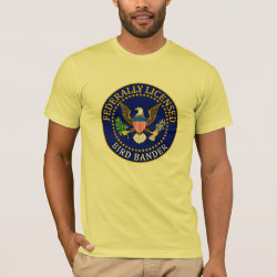 Men's Basic American Apparel T-Shirt with Bird Bander Seal design
