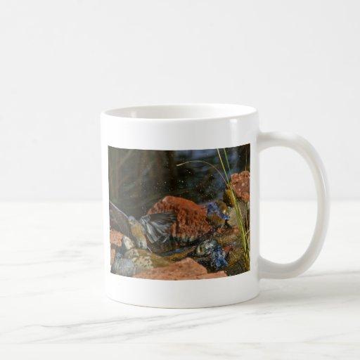 bird bath classic white coffee mug