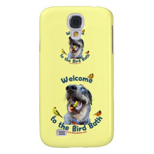 Bird Bath Dog Samsung Galaxy S4 Covers