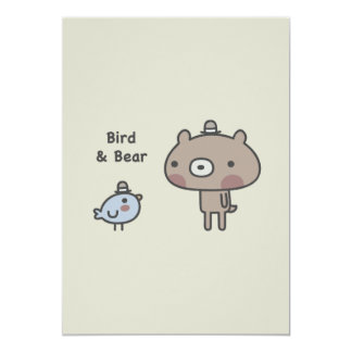 Bird & Bear Card