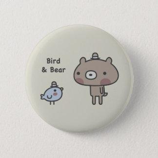 Bird & Bear Pinback Button