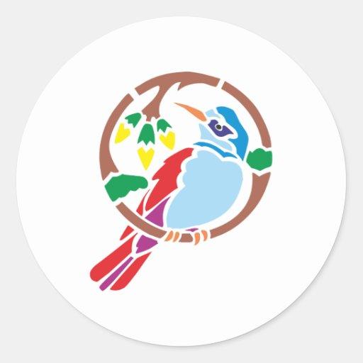 Bird bird classic round sticker