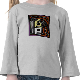 Bird Birdhouse Drawing T-shirt