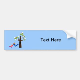 Bird Birds Mom Kid Family Tree Cute Cartoon Animal Bumper Sticker