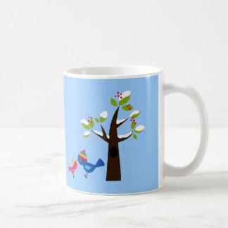 Bird Birds Mom Kid Family Tree Cute Cartoon Animal Coffee Mug