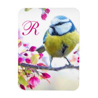 Bird & Bloom Monogram Magnet
