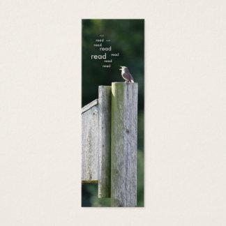 Bird Bookmark Mini Business Card