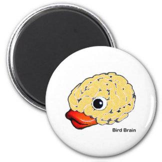 Bird Brain Fridge Magnet