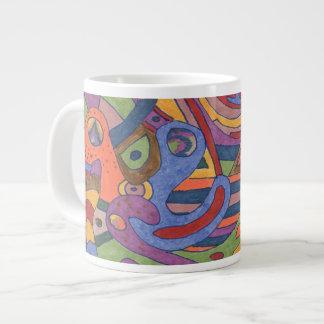 Bird Brain, original abstract 20 Oz Large Ceramic Coffee Mug