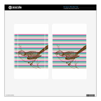 bird branch animals nature colorful pattern art kindle fire decal