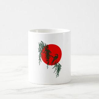 Bird branch red sun bird twig talk sun mug
