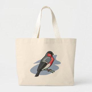 Bird Bullfinch Large Tote Bag