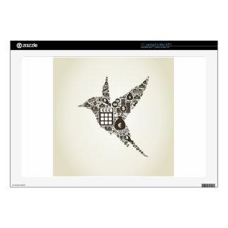 Bird business decal for laptop