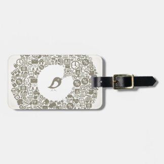 Bird business tag for luggage