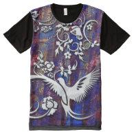Bird & Butterfly 1 All-Over Print T-shirt