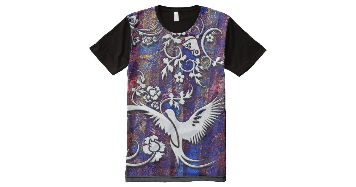 Bird butterfly 1 all over print t shirt zazzle for Vista print tee shirt