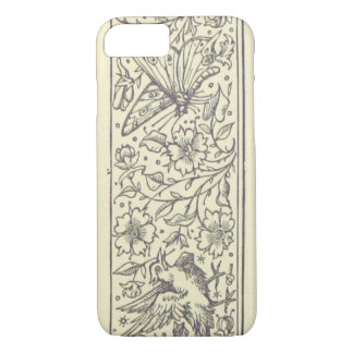 Bird Butterfly and Flowers Drawing Cell Phone Case