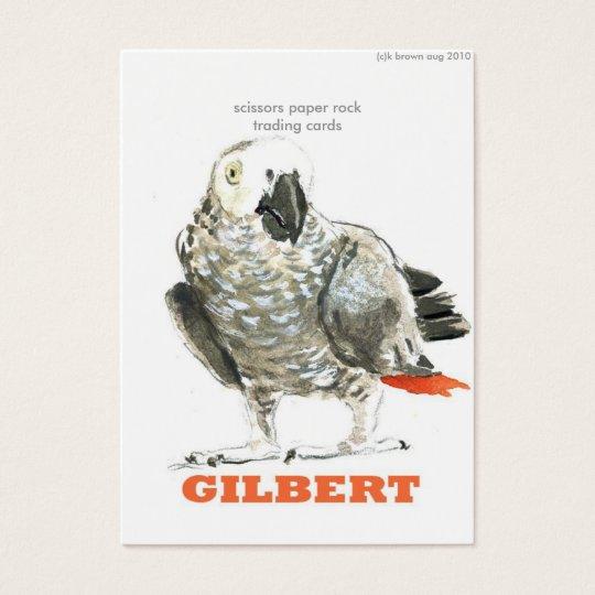 bird, (c)k brown aug 2010, scissors paper rockt... business card