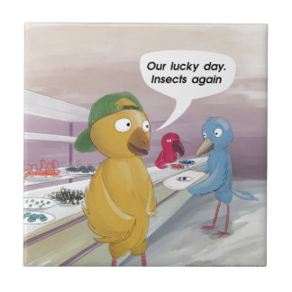 Bird Cafeteria Funny Ceramic Tile