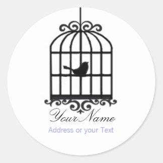 Bird Cage Address Sticker