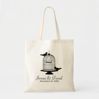 Bird Cage and Birds Custom Wedding Tote Bag
