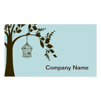 Bird Cage Double-Sided Standard Business Cards (Pack Of 100)