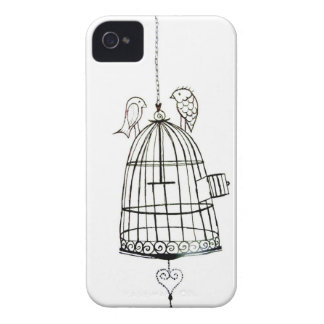 bird cage drawing iPhone 4 Case-Mate cases