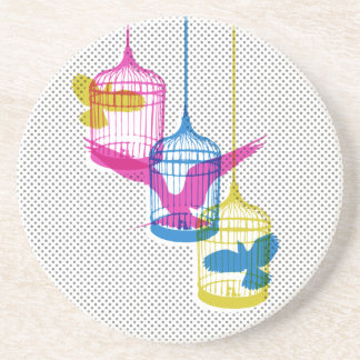 Bird Cage Escape Coaster