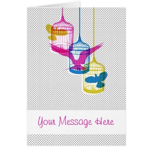 Bird Cage Escape Greeting Card