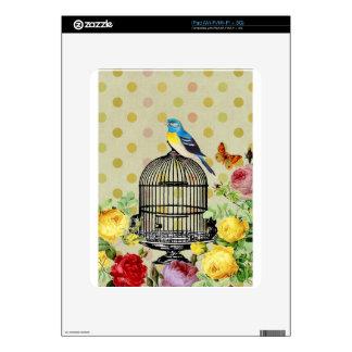 Bird Cage flower Vintage iPad Skin
