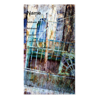 Bird Cage Grunge Double-Sided Standard Business Cards (Pack Of 100)