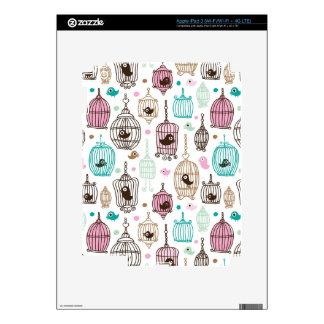 bird cage love kids background pattern decals for iPad 3