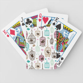bird cage love kids background pattern bicycle playing cards