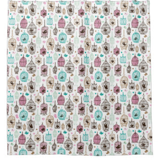 Bird Cage Shower Curtains | Zazzle