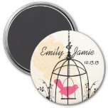 Bird Cage Wedding Stickers or Customize Refrigerator Magnets