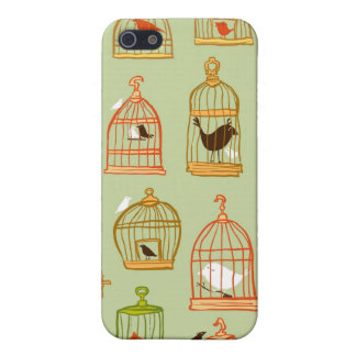 Bird Cages on Green iPhone 5/5S Cover