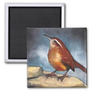 Bird: Carolina Wren in Pastel: Wildlife Art Fridge Magnet
