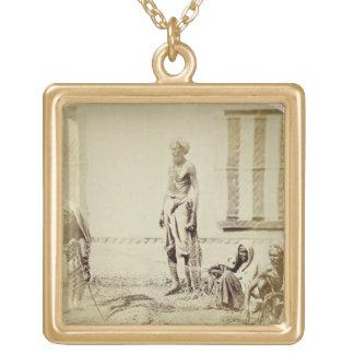 Bird-Catchers, Low Caste Hindus in Delhi, 19th cen Square Pendant Necklace