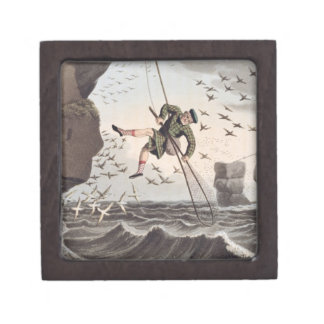 Bird Catching from Above, engraved by Matthew Dubo Gift Box