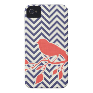 Bird & Chevron iPhone Case iPhone 4 Case-Mate Case
