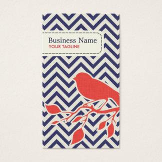 Bird & Chevron Pattern Business Card