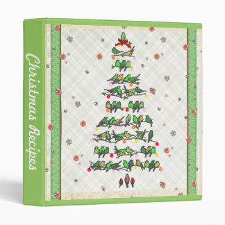 Bird Christmas Tree 3 Ring Binder