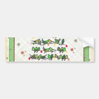 Bird Christmas Tree Bumper Sticker