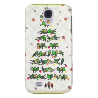 Bird Christmas Tree Galaxy S4 Cover