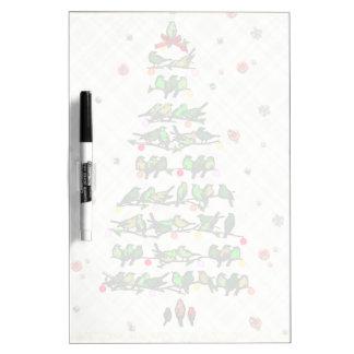 Bird Christmas Tree Dry-Erase Board