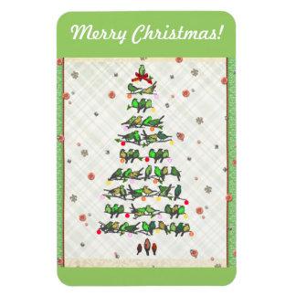 Bird Christmas Tree Magnet