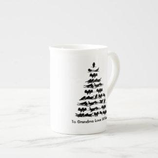 Bird Christmas Tree Tea Cup