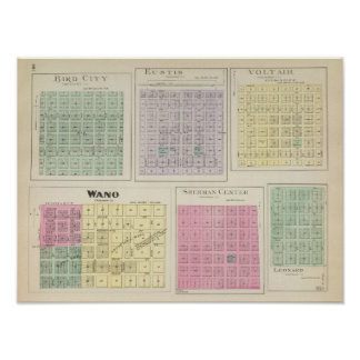 Bird City, Eustis, Voltair, Wano, , Kansas Poster