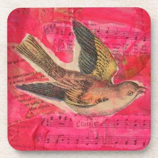 Bird Collage Coaster