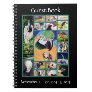 Bird Collage Guest Book Spiral Notebook